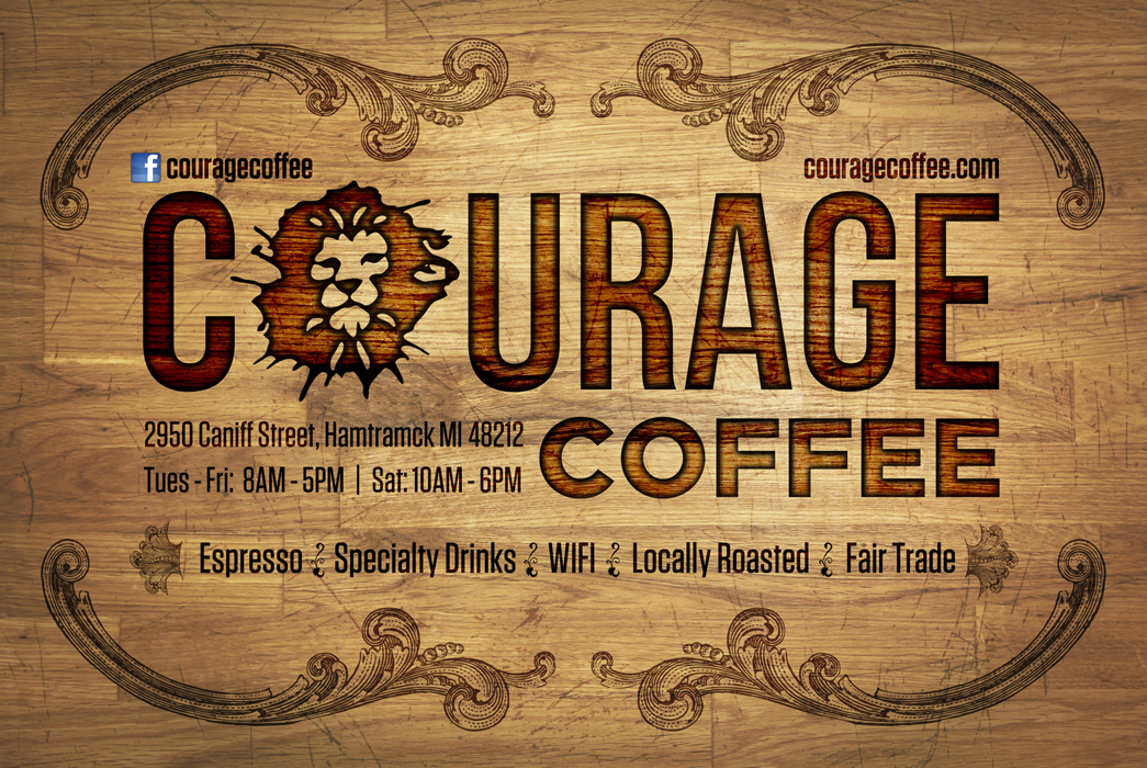 Courage Coffee promo